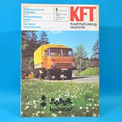 DDR KfT Kraftfahrzeugtechnik 8/1981 Bastei-1 Robur LO 3000 Audi Quattro Cat 62