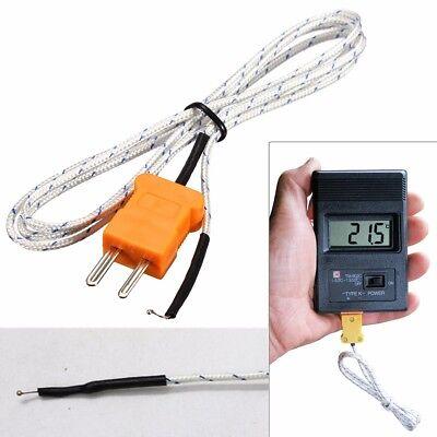 1m K Type Thermocouple Wire Digital Temperature Sensor Probe For Multimeter Q