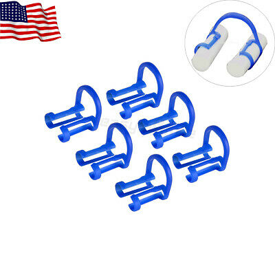 Easyinsmile 100pcs Dental Cotton Roll Holder Disposable Teeth Clip Holders Blue