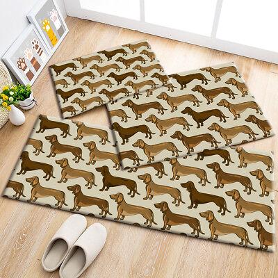 Pets Dachshund Dogs Pattern Area Rugs Kids Bedroom Carpet Living Room Floor Mat