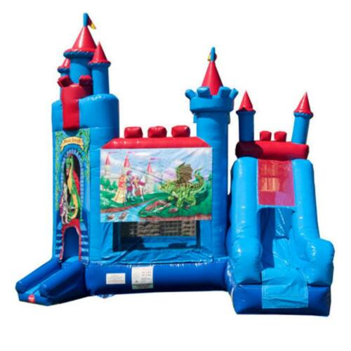 Commercial Bounce House Dry Slide Combo Inflatable Brave Knight Castle