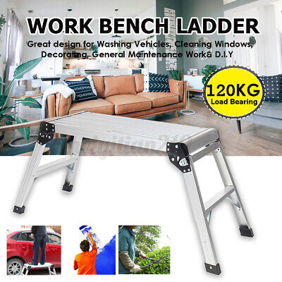 Portable Work Platform Step Stool Folding Car Wash Rv Camping Working Ladder Me