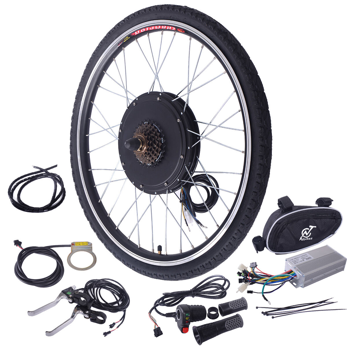 26 electric bicycle 48v 1000w rear wheel conversion kit for Rear wheel electric bicycle motor kit
