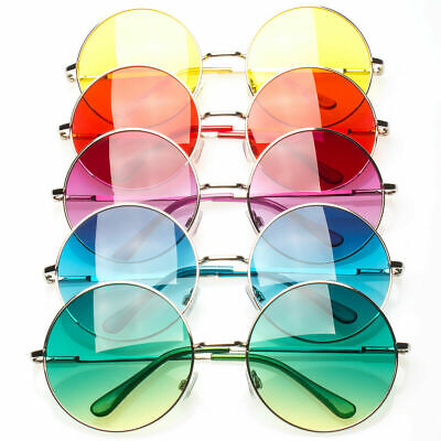 Vintage Circle Round Sunglasses John Lennon Style Retro Classic Small Medium (Retro Circle Sunglasses)