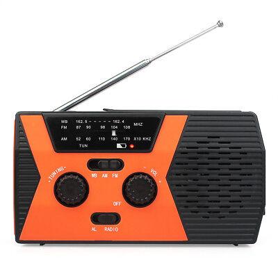 Retekess HR12W Radio Hand Crank Solar Emergency FM/AM NOAA Digital Display DC