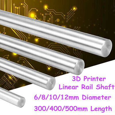 6-12mm Cnc 3d Printer Axis Chromed Smooth Rod Steel Linear Rail Shaft