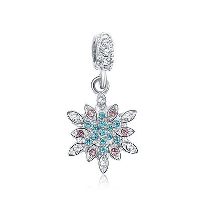 Winter Clearance Sale (Clearance sale Silver Christmas Winter Snow CZ Pendant Charm Bead Fit)