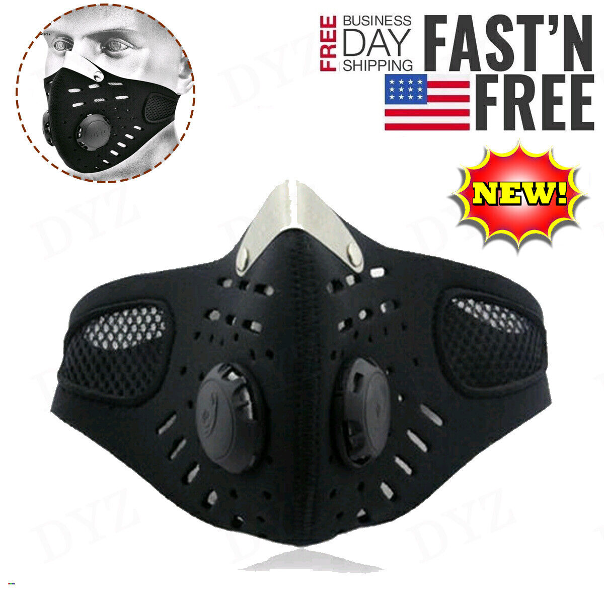 usa cycling air purifying face mask cover