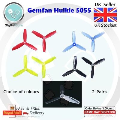 2 Pairs Gemfan Hulkie 5055 3-blade PC Propeller CW CCW for 2205-2306 - Racing