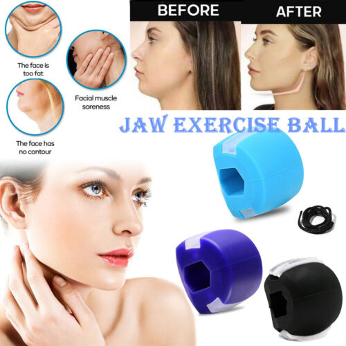 Jawline Exerciser Fitness Ball Neck Face Toning Bone Exercise Jaw Beauty US Anti-Aging Products