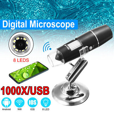 Wifi Portable 1000x Zoom Magnifier Usb Digital Microscope For Android Ios Iphone