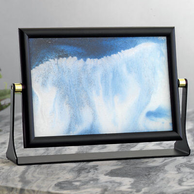 - Bits and Pieces Sand in Motion - Blue Drifting Sandscape Soothing Desktop Art