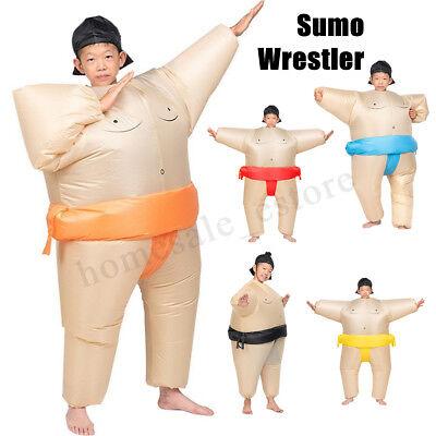 Inflatable Kids Sumo Wrestling Costume Wrestler Suit Blow U Fancy Dress - Kids Sumo Wrestling