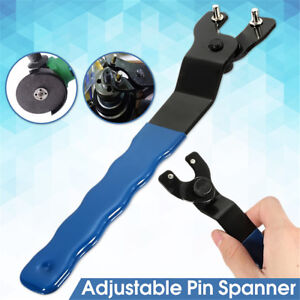 Adjustable Pin Spanner Wrench 8-50mm Heavy Duty For Angle Grinder Hubs Arbors