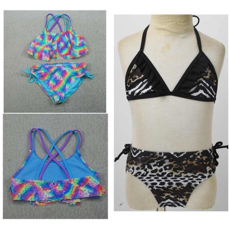 Girls Bikini Swimwear Suits Toddler Beach Tops+Bottoms Tankini Bathing Suit 2PCS