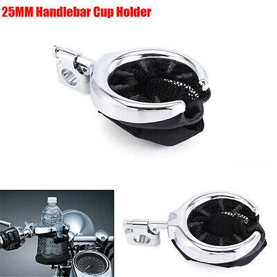 Foldable Net Basket Cup Holder Rubber Adapter for Motorcycle Dirt Bike Handlebar