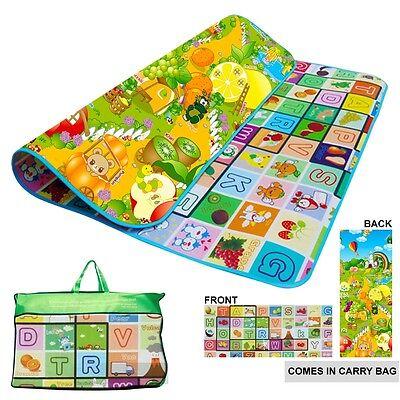 2 Side Kids Crawling Educational Game Baby Play Mat Soft Foam Carpet Large Floor