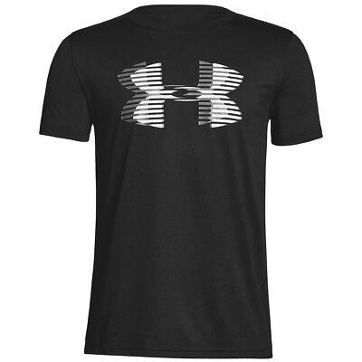 Solid Tech T-shirt (Under Armour Tech Big Logo Solid Boys T-Shirt Short Sleeve Shirt 1306073-001)