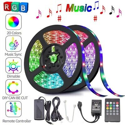 Music Activated Led (5M 10M 3528 5050 RGB LED Strip Light Music Sound Activated Remote 12V Power)