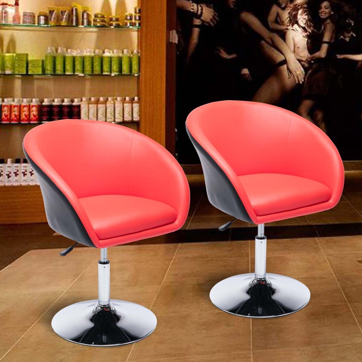 Egg Shaped Barber Salon Chair Tufted Bar Stool Pub Chair Acc