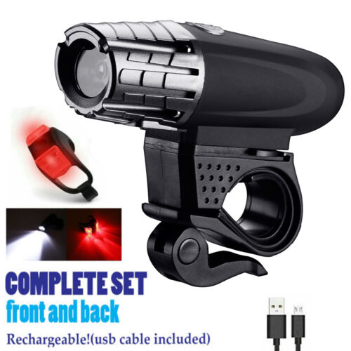 5000 Lumen 8.4V Rechargeable Cycling Light Bike Bicycle LED Front Rear Lamp Set