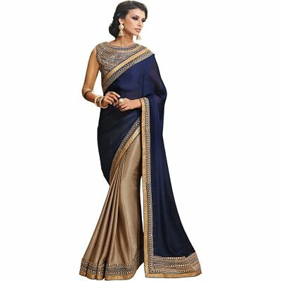 Saree Sari Wear Georgette Indian Blouse Bollywood Designer Ethnic Wedding Party