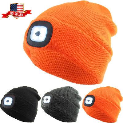 LED Light Beanie Winter Ski Hat Skull Cap Rechargeable USB - Led Winter Hat