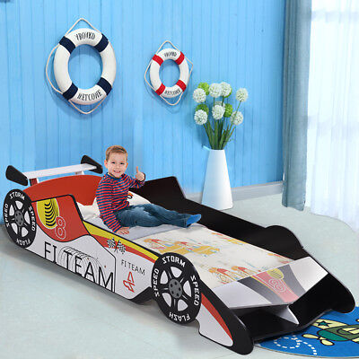 Kids Toddler Bed Race Car Children Bedroom Fun Play Boys and Girls Furniture New
