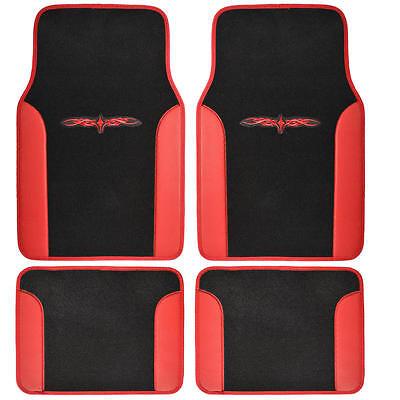 Tattoo Tribal Design Floor Mats for Car SUV Van 2 Tone 4 Piece Red/ Black - Lacrosse Tattoos