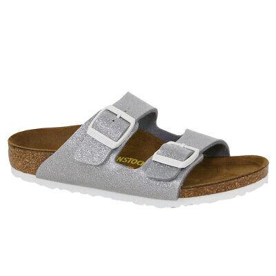 Birkenstock Kids' Arizona Sandals Birko-Flor Magic Galaxy Silver 27 N