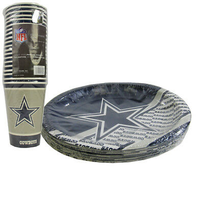 New NFL Dallas Cowboys 40 Disposable Paper Plates Cups Party-Ware - Dallas Cowboys Party Supplies