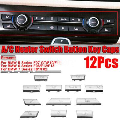 12 Lüftung Klima Bedienteil AC Heizung Schalter Knopf für BMW 5/6/7 F10 F01 F12