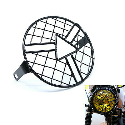 "1Pcs Metal Retro Motorcycle 6.3"" Headlight Lamp Spherical Mesh Grille Cover Mask"