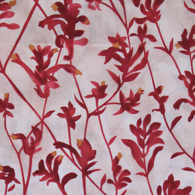 AUSTRALIAN ABORIGINAL QUILTING FABRIC - KANGAROO PAW RED sold by FQ and METRE for sale  Shipping to Canada