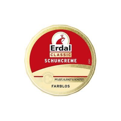 Erdal Classic Schuhcreme Farblos - Dosencreme, pflegt, glänzt & schützt, 75 ml