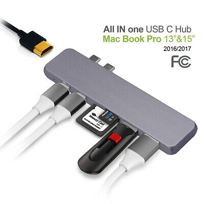 Type C HUB Mac Best USB-C Docking Station 50 GBS for MacBook Pro