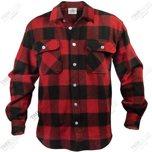 mens plaid shirt long sleeve extra heavyweight flannel