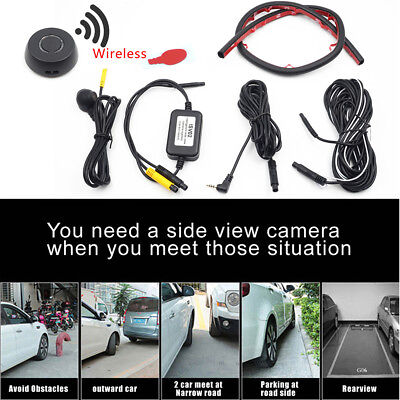 (HD side view blind zone double recording upgrade remote three-way camera system)