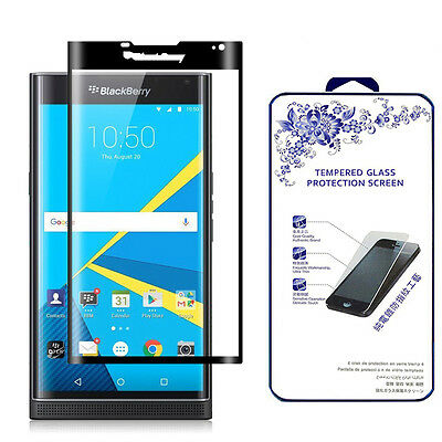 3D Glaring Cover Tempered Glass Screen Protector for BlackBerry Priv - Black