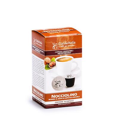 10 capsule Nocciolino - Caffè Nocciola Cialdeitalia - compatibili NESPRESSO