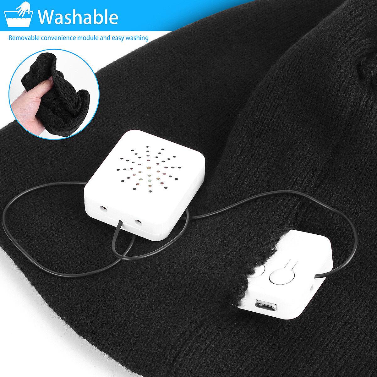 Winter Warm Wireless Bluetooth Beanie Hat Cap Headset Headphone Speaker Mic GIFT