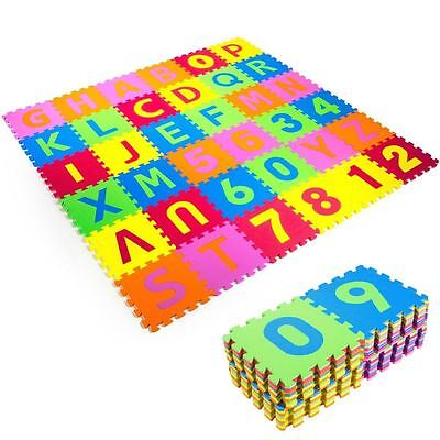 (New Puzzle Mat 36 blocks Learning ABC Alphabet Study Kids Letters Floor Play Toy)