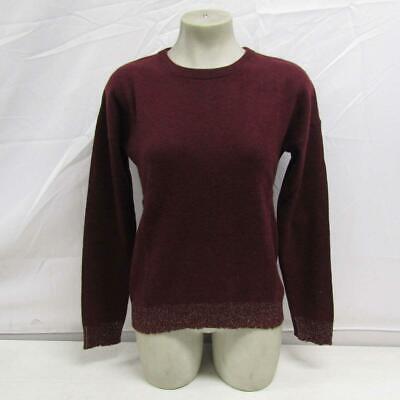 Zadig & Voltaire Women's US S Cici Patch Lurex Cashmere Sweater Bordeaux
