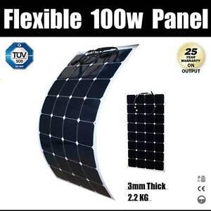 100W 12V Flexible Solar panel Kit Caravan Camping Power Mono Char Wangara Wanneroo Area Preview