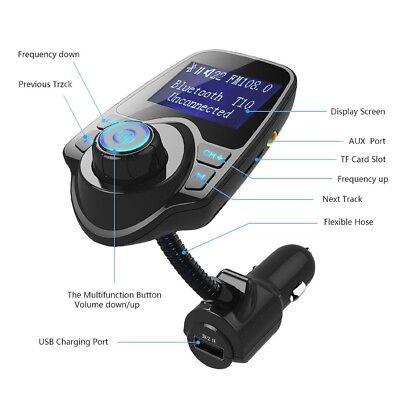 Wireless In-Car Bluetooth FM Transmitter MP3 Radio Adapter Car Kit USB ChargerOV