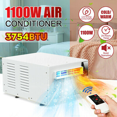 1100W Portable Window Air Conditioner Refrigerated Summer Cooler Remote