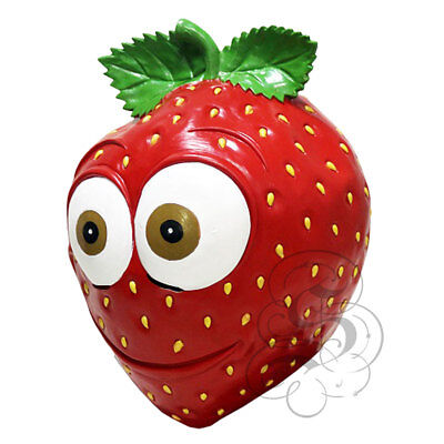 Latex Fruit Vine Strawberry Funny Happy Face Cosplay Props F