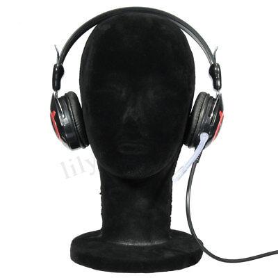 Styrofoam Black Velvet Manikin Mannequin Foam Head Wig Hair Hat Display
