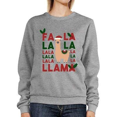 Fa La La Llama Sweatshirt Cute Christmas - Christmas Llama