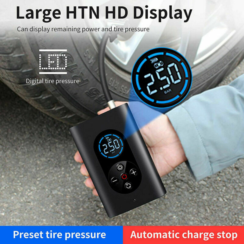 150 PSI Tire Inflator Car Air Pump Compressor Electric 4000mAh Rechargeable Bank